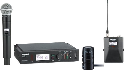 Shure Ulx-D Digital Wireless System With Wireless Sm58 And Lavalier Microphones
