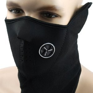 Neoprene Black Thermal Fleece Half Face Mask Facemask Snowboard Snowmobile Snow Ski Sled Face Mask Facemask Balaclava Scarf Extreme Sport X-Sport Skate Skating Skids Skateboarding