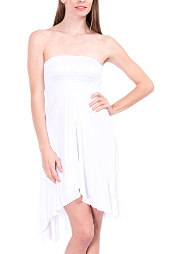 Modern Kiwi Eva High Low Dress White Small