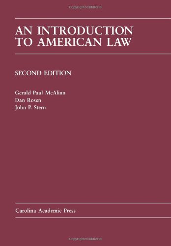 Introduction to American Law (Carolina Academic Press Law...