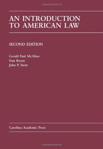 Introduction to American Law (Carolina Academic Press Law...