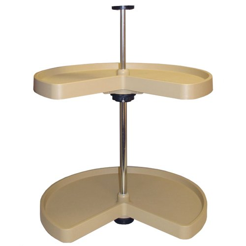 Rev-A-Shelf 28in Kidney Shaped Lazy Susan 2 shelf set Almond