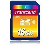 Transcend 16 GB Class 10 SDHC Flash Memory Card (TS16GSDHC10)