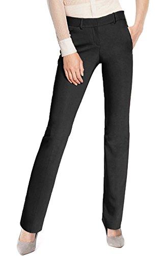 BodiLove Women's Straight Leg Performance Formal Dress Pants