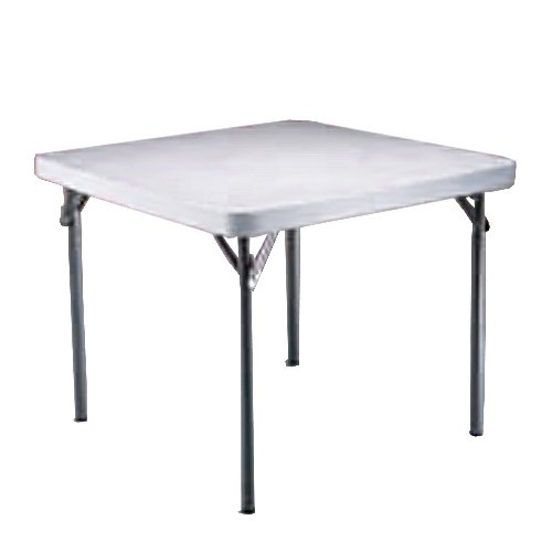 Lifetime 22315 37-Inch Square Folding Table with 37-Inch Square Molded Top, White Granite