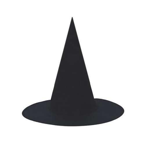 SeasonsTrading Black Witch Hat ~ Halloween Witch Costume Accessory (STC13010)
