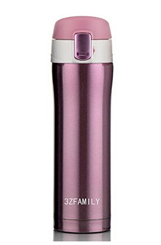 3ZFAMILY Vacuum Flasks Home Kitchen Thermoses Stainless Steel Insulated Thermos Cup Coffee Mug Travel Drink Bottle Garrafa Termica Thermomug 16OZ (Purple) (Thermal Carafe Pink compare prices)