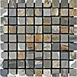 1x1 Multi Classic Tumbled Slate Mosaic Tiles for Backsplash, Shower Walls, Bathroom Floors, Jacuzzi, Swiming Pools