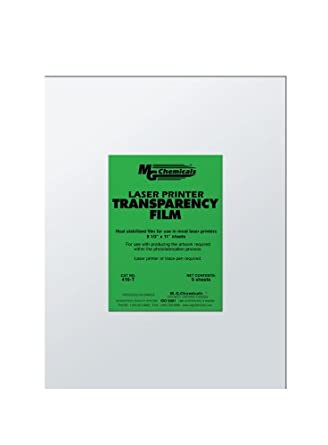 """MG Chemicals 416-T PET Transparency Film Sheet, 11"""" Length x 8-1/2"""" Width"""