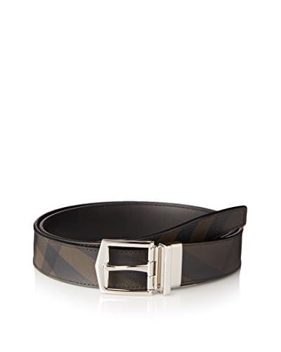 Burberry Men's Checked Belt, Black