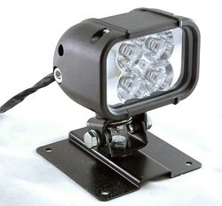 Led Light W/ Permanent Mount Plate -12 Watts - 4 Leds - 9-42 Volts Dc - 720 Lumens - Spot Or Flood(-