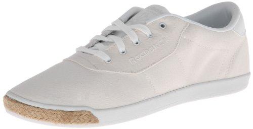 Reebok Women's CL Lady Duchess 30 TXT Lace-Up Fashion Sneaker,Chalk/White/Canvas,7.5 M US