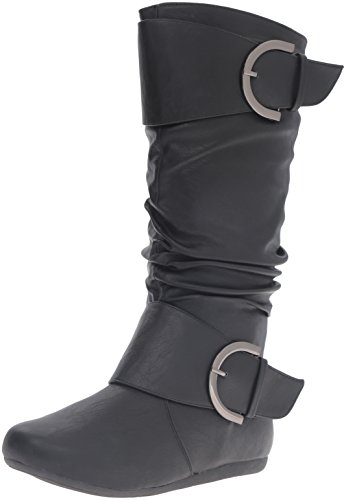 Top-Moda-Womens-Round-Toe-Slouchy-Boot-with-Buckle