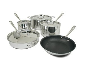 Buy All-Clad 501372 Stainless Nonstick Cookware Set 9-pc.