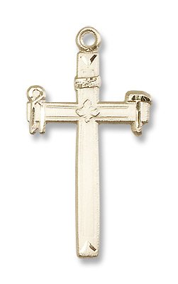 Gold Filled Carpenter Cross Pendant with 24