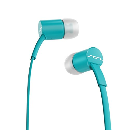 Sol Republic 1112-76 Jax In-Ear Headphones With Single-Button Remote And Microphone, Turquoise