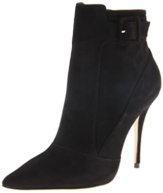 Elizabeth and James Women's Sire Ankle Boot, Black Suede, 6.5 M US