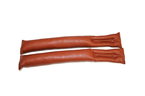 Champ Grip - Leather Car Seat Gap Fillers (Set of 2), Brown