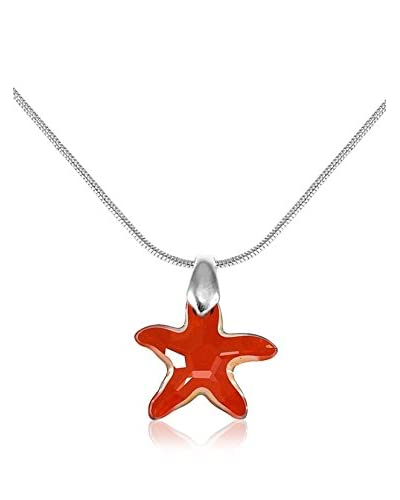 So Charm with Crystals from Swarovski Collar  Rojo