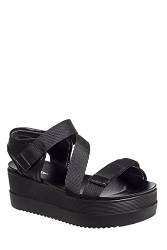 Licorice Platform Wedge Sandal