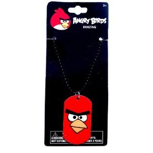 Angry Birds Red Bird Exclusive Dogtag Necklace / Officially Licensed By Rovio