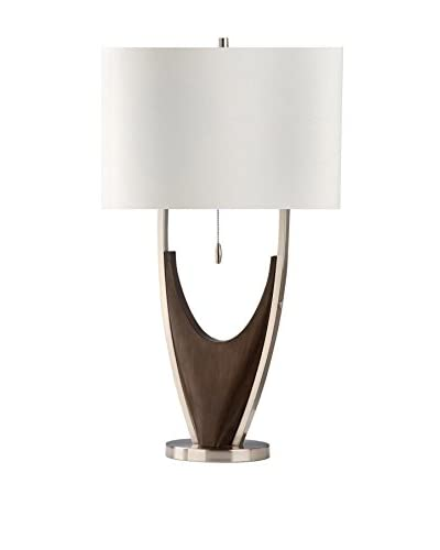 Nova Lighting Hull Table Lamp, Chestnut