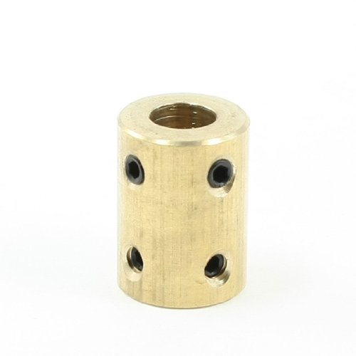 6mm to 8mm Bore Rigid Copper Motor Coupling Coupler w Tight Screws from Amico