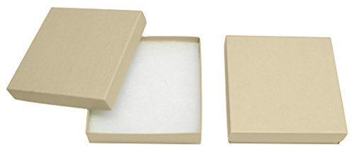 Novel Box® MADE IN USA Jewelry Gift Box in Kraft With Removable Cotton Pad 3.5X3.5X0.9