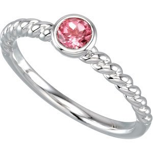 Genuine IceCarats Designer Jewelry Gift Sterling Silver 04.00 Mm Stackable Ring. 8 Garnet 04.00 Mm Stackable Ring In Sterling Silver Size 8