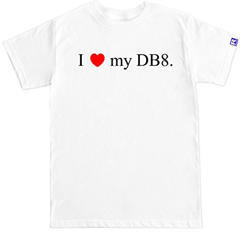 FTD Apparel Men`s I Love My DB8 Integra Type R Motor Engine Car Racing JDM T Shirt-XXL White