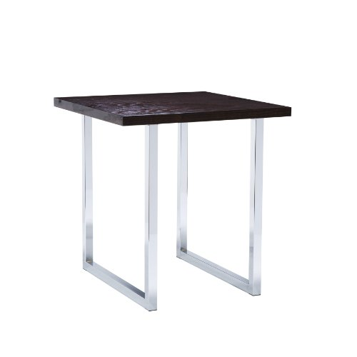 Cheap SEI Brooklyn Espresso and Chrome End Table (CK0832)