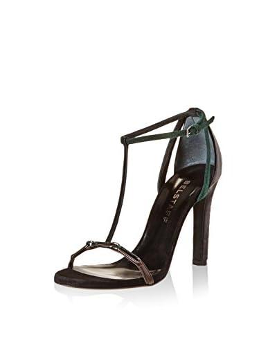 Belstaff Sandalette Kendal schwarz/grün/braun