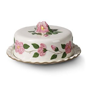 Franciscan Desert Rose 12-1/2-Inch Cake Plate with Cover