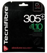Tecnifibre 305 + PLUS 1.10mm 18 Gauge Squash String Set (Black)