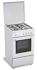 cucina a gas 50x50x85 cm inox 4 fuochi con forno elettrico ... - Cucina Quattro Fuochi