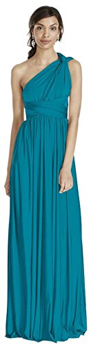 Versa Convertible Long Jersey Bridesmaid Dress Style W10502, Oasis, 1X (Davids Bridal Long Dress Oasis compare prices)