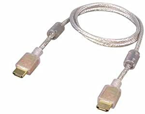 All4u Bc 198 Hdmi Cable (Hdmi Male 19p To Hdmi Male 19p, Hdmi 1.3b With Ferrite) 3m Transparent