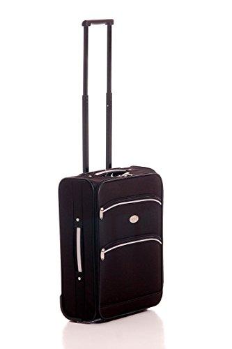 Trolley-Boardcase Reisekoffer in zeitlosem schwarz/grau, inklusive Kofferwaage mit Maßband