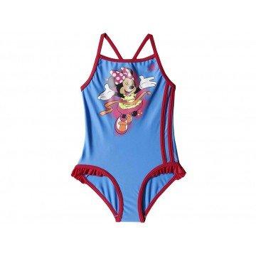 adidas Badeanzug Disney Suit Little Girls - Lucky Blue / Solar Pink - 140