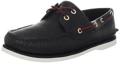 Timberland Men's Classic-2 Eyed Boat Shoe,Black,7 M US