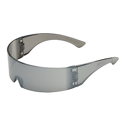 Silver Mirror Futuristic Shield Sunglasses Deal Glasses