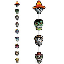 Day Of The Dead Stringer Party Accessory (1 count) (1/Pkg)