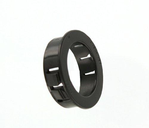 Leviton 403-E Plastic Wallplate Adapter, Snap In Grommet, Black