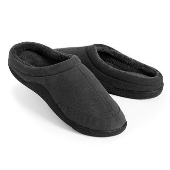 Cheap Isotoner Men's Microsuede Clog Indoor/Outdoor with Memory Foam Slippers (B0095ZRQVC)