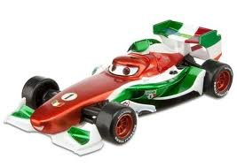 Disney / Pixar CARS 2 Movie Exclusive 1:55 Scale Die Cast Car Francesco Bernoulli with Metallic Finish Special Deco Mattel