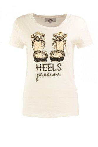 Verysimple -  T-shirt - Casual - Maniche corte  - Donna bianco grezzo 34