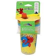 Sesame Beginnings 3 Pk Sippy Cup 10oz