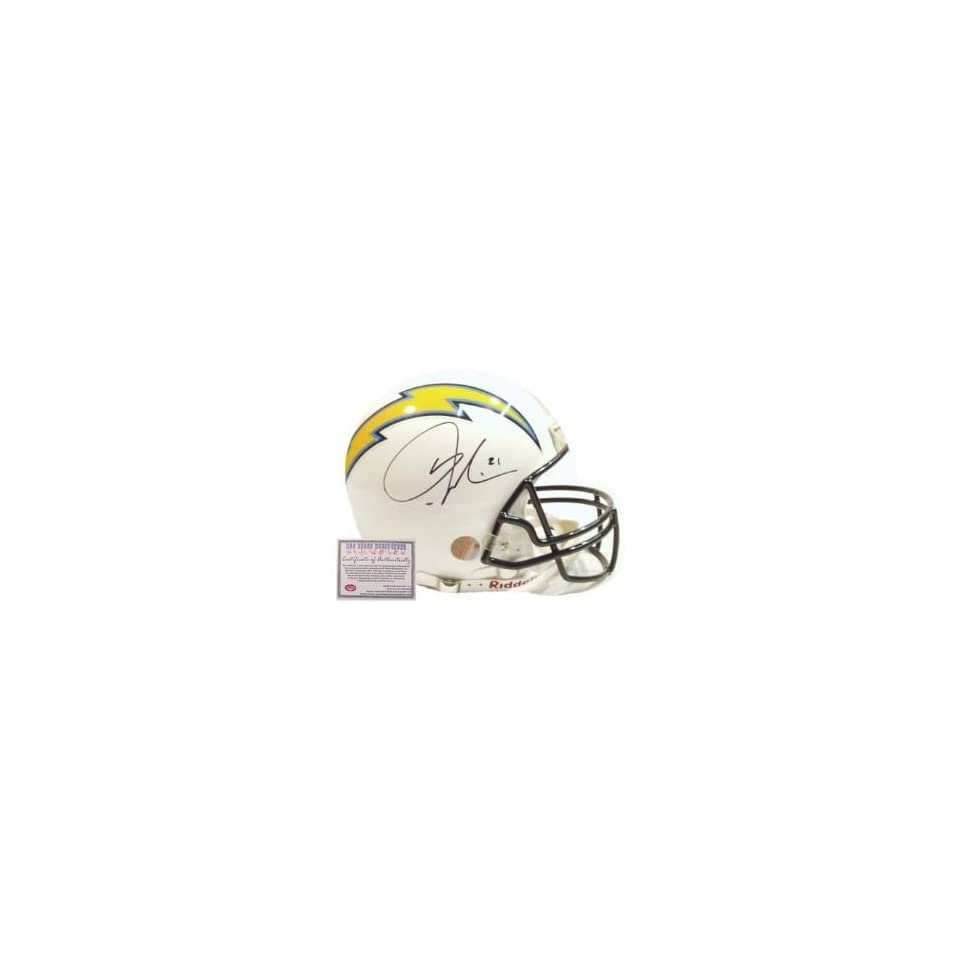 LaDainian Tomlinson San Diego Chargers NFL Hand Signed Full Size Proline White Football Helmet