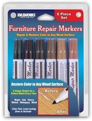 Set of 6 Assorted Furniture Repair Markers Stain Scratch Floor Pens (Scratch Remover For Furniture compare prices)
