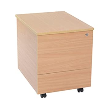 FF JEMINI 3 DRAWER MOBILE PEDESTAL BEECH
